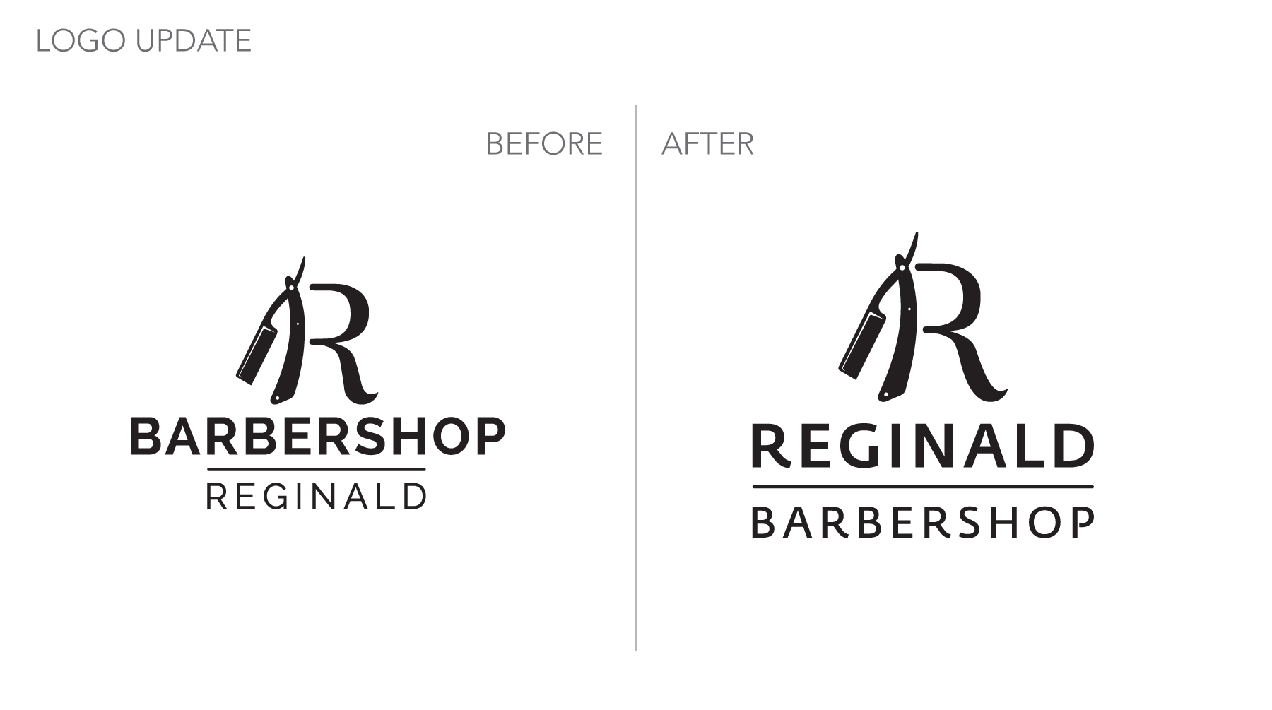 Reginald Barbershop Logo Update
